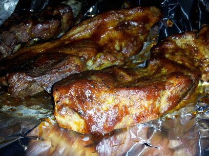 Oven Baked Country Style Ribs (marinated, rubbed & BBQ'd)