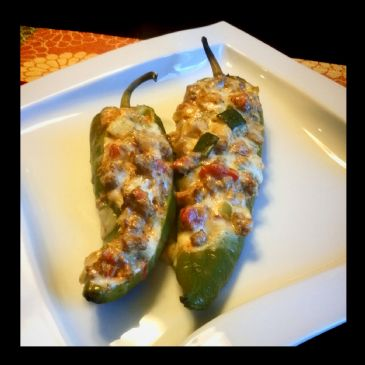 Low-Carb Cheesy Stuffed Poblano Peppers