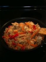 Garlic Chicken Stir Fry With Quinoa, Peppers & Basil
