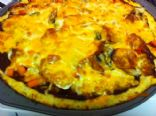 Cauliflower Pizza Crust; 4 large slices