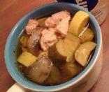 Chicken, Mushroom, Squash Soup