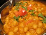 Chana Masala/Garbanzo-Chick Peas in Indian Spices
