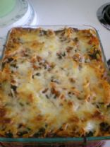 Baked Penne Rigate with Spinach