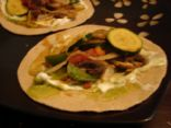 Vegetable Fajitas on Whole Wheat Tortillas