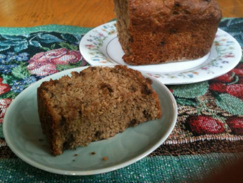 Whole Wheat Banana Bread with Chocolate Chips