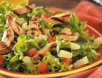 Romaine Salad Topped with Grilled Chicken