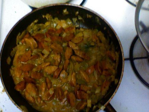 cajun style andouille chicken sausage!