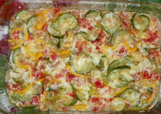 All About Color Fresh Veggie Casserole