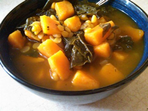Sweet Potato, Kale & Split Pea Soup