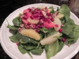 Citrus Spinach Salad with Pomegranate & Walnuts