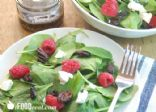 Spinach Salad with Raspberries, Goat Cheese and Candied Pecans