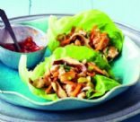 Sesame-chicken lettuce wrap