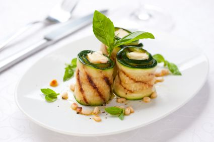 Grilled Zucchini with Feta and Pesto