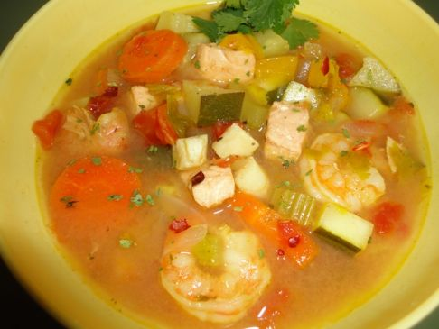 Vegetable & Seafood Soup - High Protein
