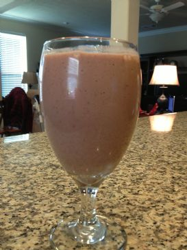 Double Chocolate Covered Strawberry Protein Smoothie