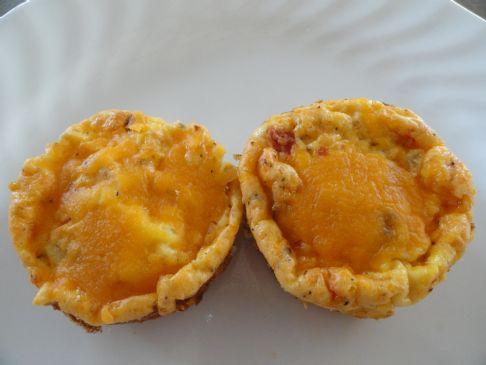 Mini Turkey Salsa Frittata