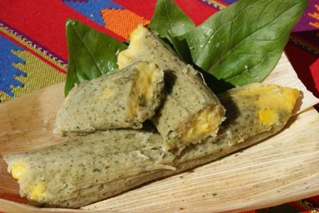 Spinach and Corn Tamales