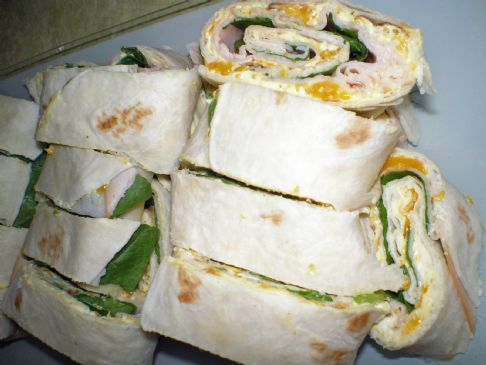 Mandarin Curry Turkey Pinwheels