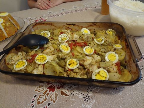 portuguese cod fish casserole recipe sparkrecipes