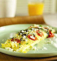 Spinach, Tomato & Feta Omelette