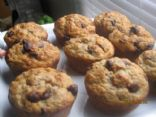 Oatmeal Banana Muffins with dark chocolate chips