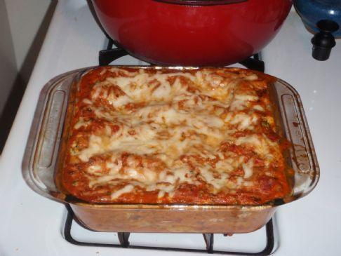 Vegan zucchini-broccoli lasagna