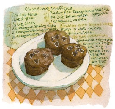 Fat Free Chocolate Muffins