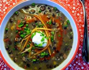 Fat Free Low Cal Refried Black Bean Soup