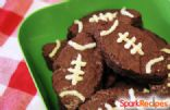 3 Ingredient Football Brownies