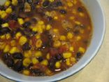 Lazy Black Bean Taco Soup