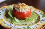 Tuna Melt Stuffed Baked Tomato