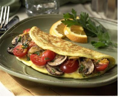 Veggie egg white omelette