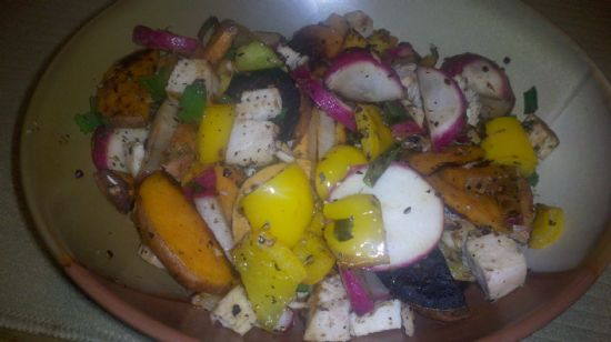 Sweet Potato & Radish Hash