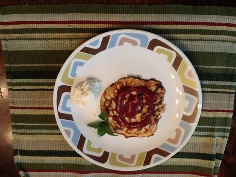 Flour free light ricotta pancakes