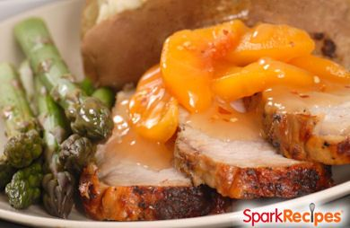 Slow Cooker Pork Chops & Peaches