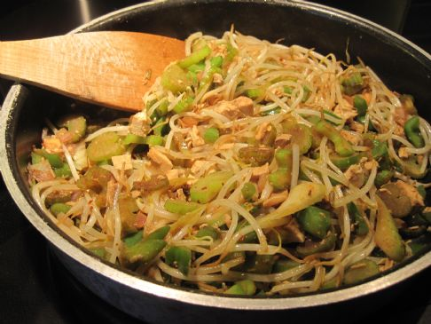 Turkey & Bean Sprouts Stir Fry