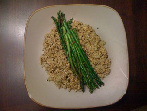 Dirty Turkey Rice with Asparagus