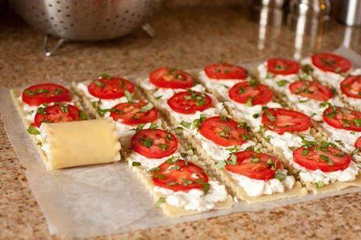 Caprese Lasagna Roll Ups Recipe Sparkrecipes