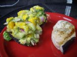 Swordfish & Stuffed Avocados
