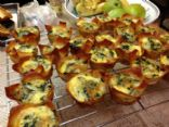 Wonton Crust Mini Spinach Quiche