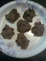 healthy and kid friendly chocolate cherry cookies