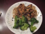 Chicken Marsala with mushrooms & capers