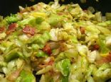 Fried Cabbage with Bacon and Onions