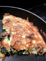 Low carb kale mushroom breakfast omelette