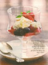 Ricotta Mousse with Berries