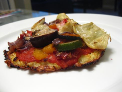 Roasted Vegetable Pizza on a Low-Carb Cauliflower Crust