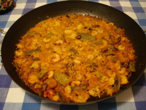 cauliflower based  paleo / primal paella