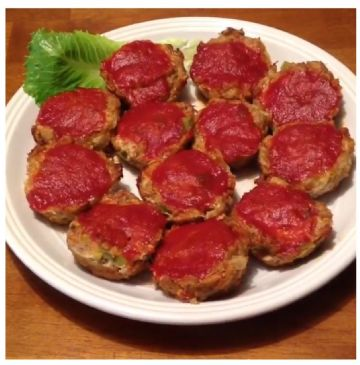 Clean Eating Mini-Meatloaves