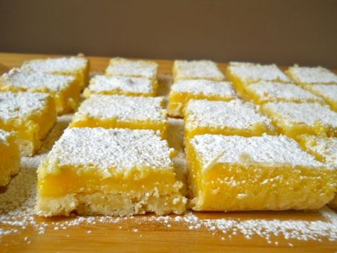 Lusciously Light Lemon Bars