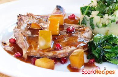 Pork Tenderloin with Balsamic-Pomegranate Sauce